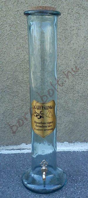 Nagy Pálinkás Henger Csappal 2,5 Literes