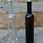 Üvegpalack (Bora) pálinkának,bornak 0,375 L