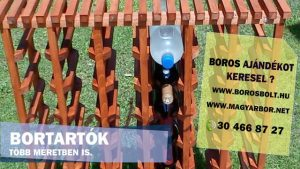 Keményfa Bortartó Állvány 48-as Cseresznye szín