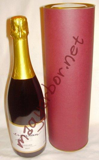 Henger alakú doboz pezsgönek