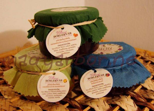Villányi borlekvár kékszilvás, vaníliás és eper ízekben 200 ml