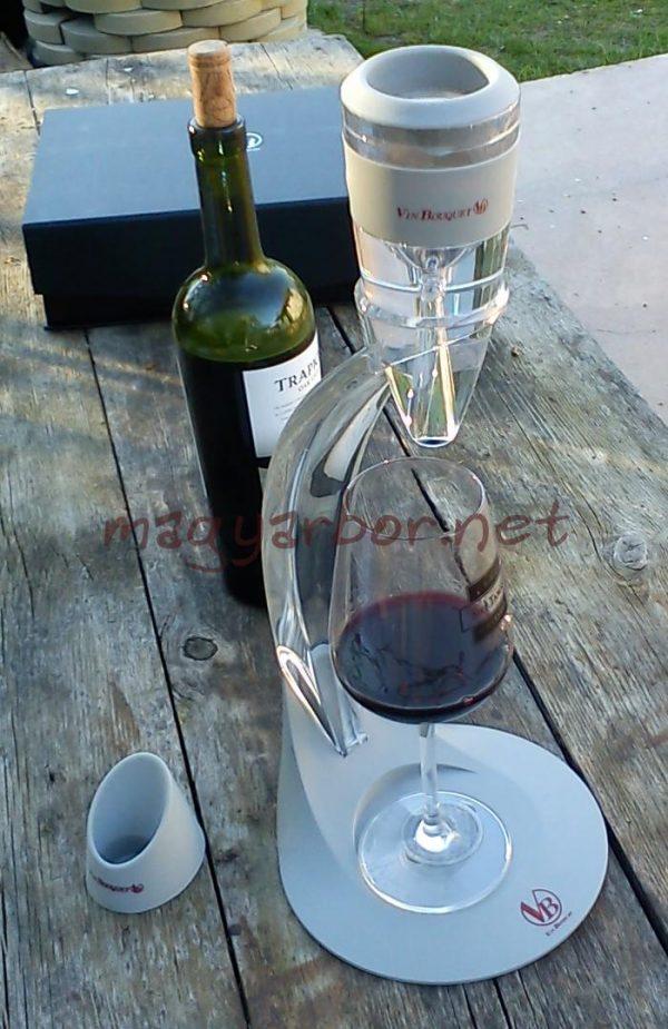 Vin Bouquet Dekantáló Torony, borSzellöztetö készlet