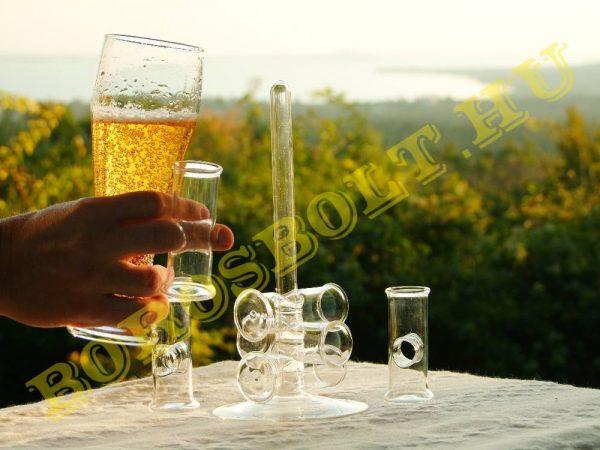 Egyujjas Különleges Pálinkás Pohár Készlet Speciális Üvegtalppal