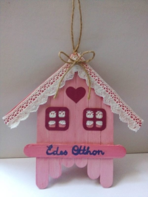Lakás dekoráció - Édes Otthon - felirattal - újrahasznosított anyagokból